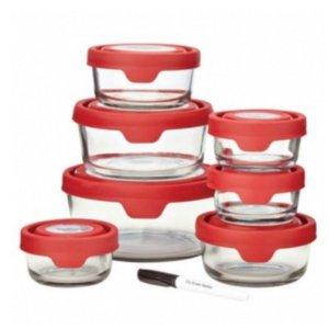 低至2折 价格清凉到底8个玻璃碗套装只要$20 Oneida 夏日厨房用品特价