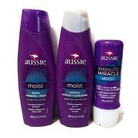 Aussie 三分钟奇迹发膜+护发素+洗发水套装