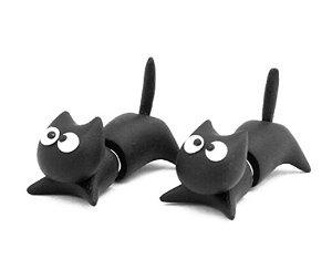 Cute Cartoon Cat Handmade Stud Earrings