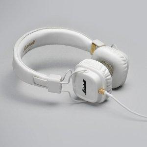 EUR 48.76 (¥363.33/$54.39)Rock & Roll!Marshall Major II 耳机 白色&棕色