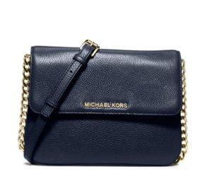 9af8bac036f96e Michael Michael Kors Bedford Double-Gusset Leather Crossbody Bag ...