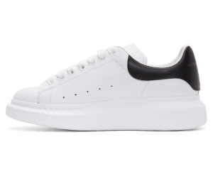 Alexander McQueen: White Leather Oversized Sneakers