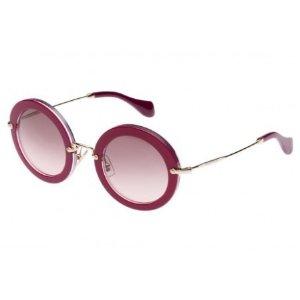 Miu Miu Round Sunglasses Cyclamen Glitter MU 13NS