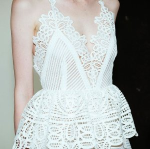 1e61ebfad71ab Self Portrait Lace Trim Peplum Dress - Dealmoon