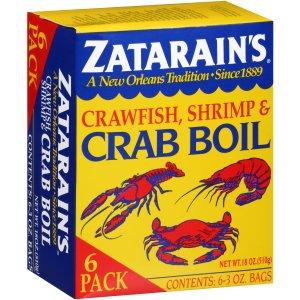 Zatarain's Crawfish, Shrimp & Crab Boil, 6pk