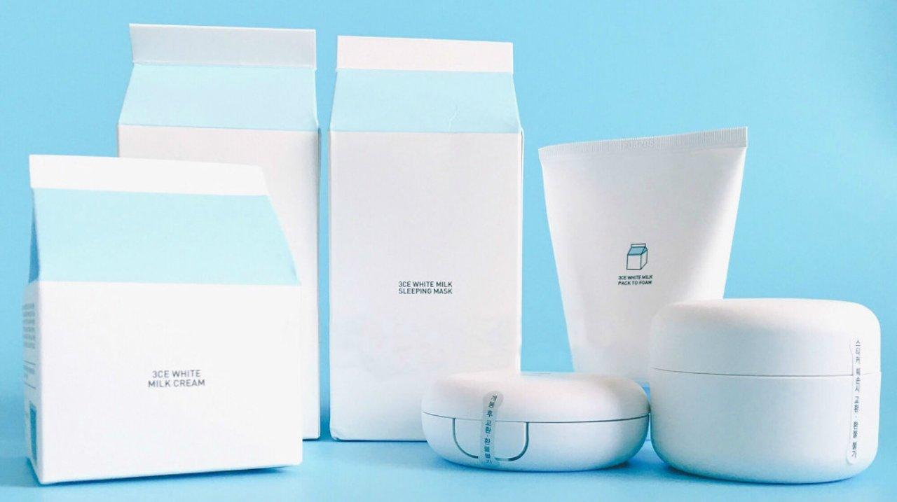 3CE White Milk 牛奶素颜产品,白白白!