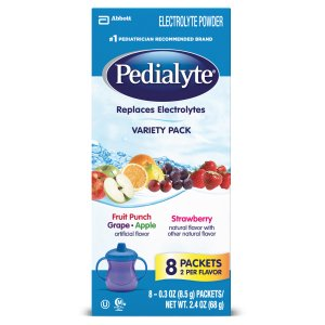 Pedialyte Powder Packs Variety, 0.3 Ounce (Pack of 8)