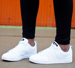 new style df661 8a95c adidas NEO Womens Advantage Clean VS W Casual Sneaker