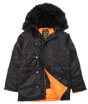 Dealmoon Exclusive: $84.15Slim Fit N-3B Parka-Black With Black Fur @ Alpha Industries