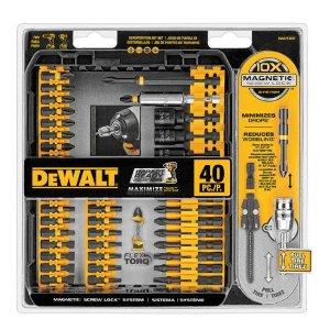 5折!$14.99(原价$29.99)DEWALT 钻头系列40件套,型号 DWA2T40IR
