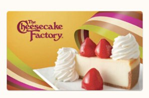 Free CheesecakeGift Card @THE CHEESECAKE FACTORY