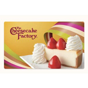 送2块免费芝士蛋糕The Cheesecake Factory $25 礼卡