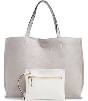 8a059cf035 $31.98 Street Level Reversible Faux Leather Tote & Wristlet @ Nordstrom