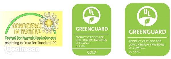 Oeko-Tex 和 Greenguard 认证标签