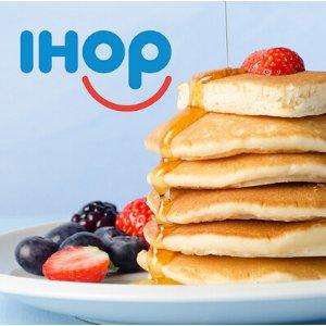 $3.99起IHOP 店内任吃 Pancakes薄饼