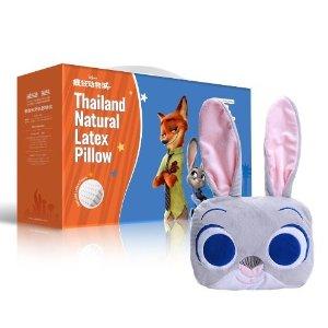 秒杀包邮价¥289元!泰国原装进口TAIPATEX 疯狂动物城系列 天然乳胶宝宝头部定型枕( 3款可选)