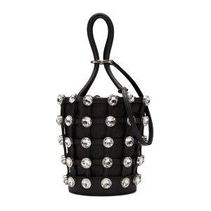 Alexander Wang: Black Mini Crystal Roxy Bucket Bag