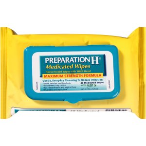 Preparation H Medicated Wipes, 48 ct
