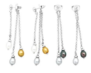 $245-6 mm Pearl Drop Earrings with Interchangeable Backs