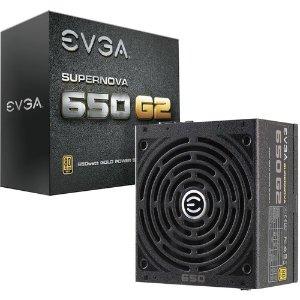 $59.99(原价$84.99)EVGA SuperNOVA 650 G2 650W 80 Plus 金牌 全模组电源