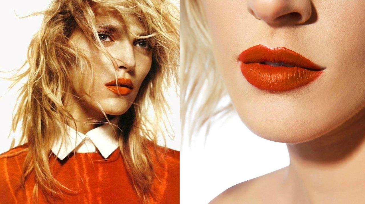 今年唇膏流行土橘色!这八支南瓜色超显白