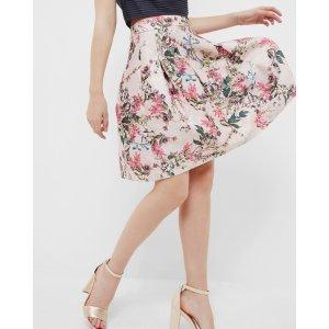 Blossom jacquard full skirt - Mid Pink | Skirts
