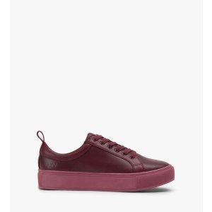 休闲板鞋(酒红色)