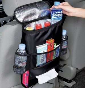 $8Autoark AK-002 Standard Size Car Seat Back Organizer,Multi-Pocket Travel Storage Bag(Heat-Preservation)