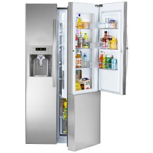 $1299.99Kenmore 26.1立方呎 法式双开门 配节能小门 不锈钢外壳冰箱