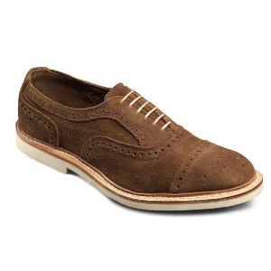 百搭!$147 (原价$295)Allen Edmonds官网男士麂皮牛津鞋