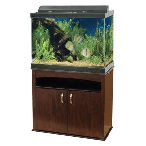 $149.99Aqueon® 65 加仑 水族馆鱼缸套装(带实木底座)