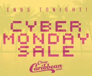 One Day Only! Up to $150 Off!Cyber Monday Sale @ Cheap Caribbean