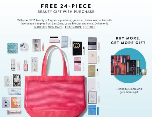 ebb980caa663 with  125 Beauty or Fragrance Purchase  Nordstrom Free 24 Pc Beauty Gift -  Dealmoon