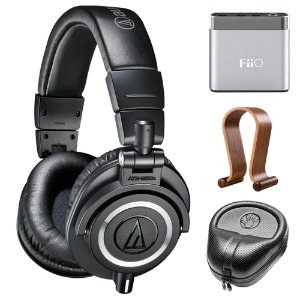 $134.00Audio-Technica ATH-M50X Professional Studio Headphones & Fiio A1 Amp Bundle