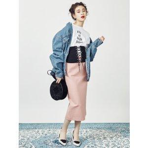 MURUA 粉色半裙
