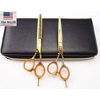 1set professional barber Hair Scissors SMITH CHU (HM76) Cutting & Thinning Scissors Kit 5.5inch