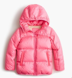 Big Girls' Marshmallow Puffer Jacket, Size 10-16