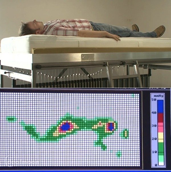 测试床垫对脊椎的支撑程度