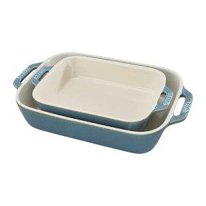 Staub 珐琅陶瓷烘焙烤盘2件套