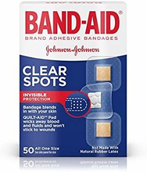 Amazon.com : Band-Aid Brand Adhesive Bandages, Comfort-Flex Clear Spots, 50 Count : Self Adhesive Bandages : Beauty