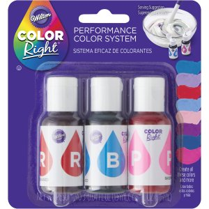 Wilton Blue and Pink Color Right Performance Color System Food Coloring Set, 601-1015 - Walmart.com