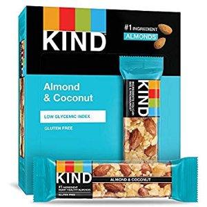KIND Bars 椰子杏仁坚果能量棒 12条装