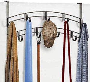 Amazon.com: Lynk Over Door Accessory Holder - Scarf, Belt, Hat, Jewelry Hanger - 9 Hook Organizer Rack - Bronze: Gateway