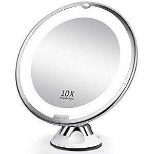 $9.99Amazon BEAUTURAL 10X Magnifying Makeup Mirror with LED