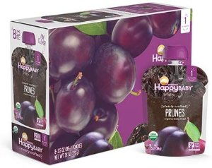Happy Baby Organic Clearly Crafted Stage 1 Baby Food 1 Prunes, 3.5 Ounce Pouch (Pack of 16) Resealable Baby Food Pouches, Fruit & Veggie Puree, Organic Non-GMO Gluten Free Kosher: Amazon.com: Grocery & Gourmet Food