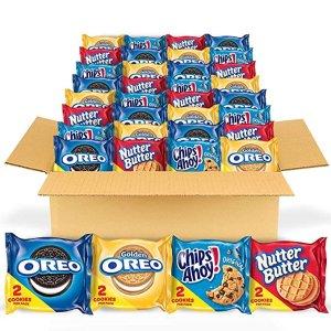 $12.24 每包仅$0.21Oreo 奥利奥、趣多多、花生酱4种口味混合装饼干 56包装