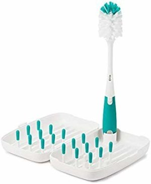 Amazon.com : OXO Tot On-The-Go Drying Rack with Bottle Brush, Teal : Gateway