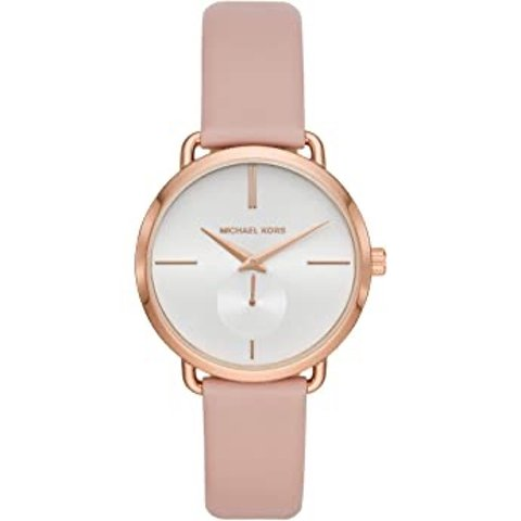 $59Michael Kors Women's Stainless Steel Quartz Watch with Leather Strap