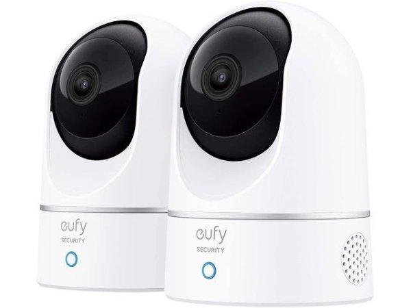 eufy 2K高画质 室内监控 360°摄像头 2只装