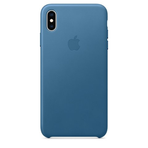 Apple Leather Case for iPhone XS Max - Cape Cod Blue